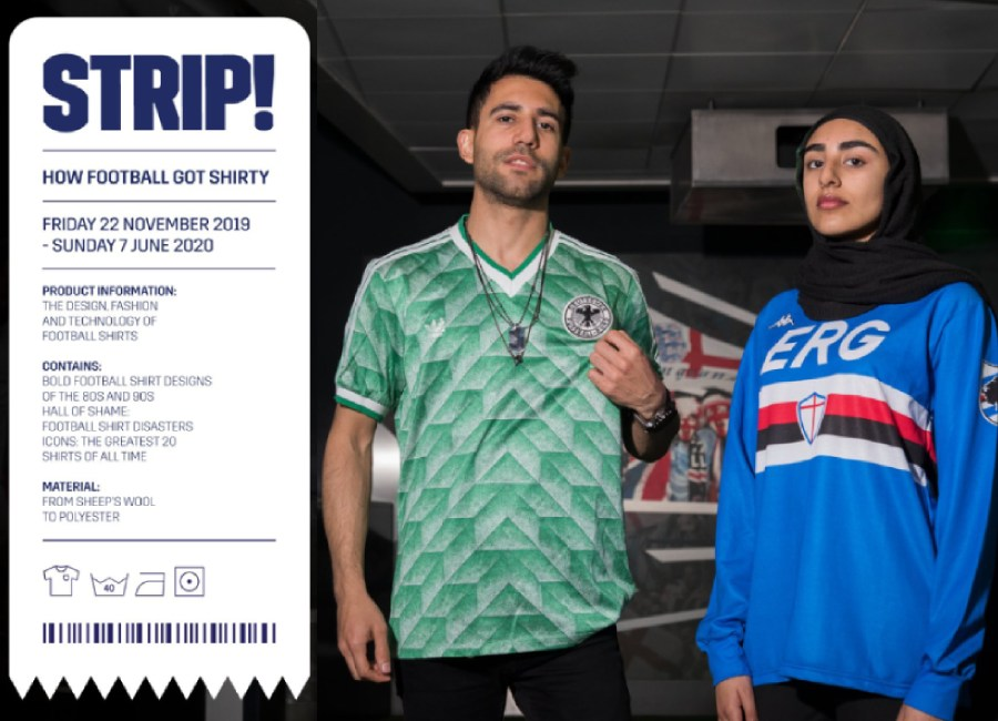 Strip! How Football Got Shirty Exhibition #footballshirt #kitdesign #soccerjersey