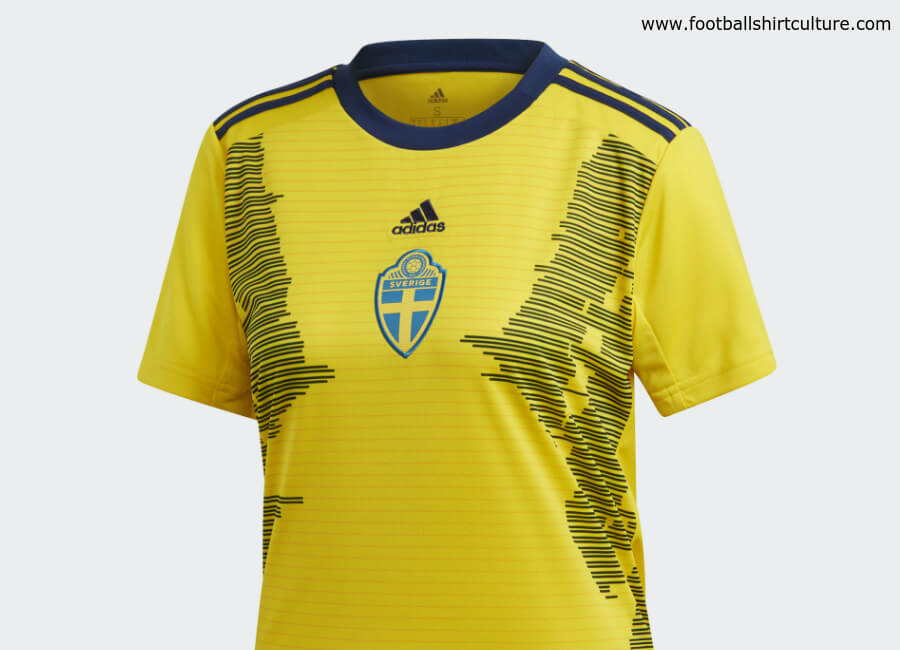 Sweden 2019 Women's World Cup Adidas Home Kit #adidasfootball #adidassoccer #footballshirt