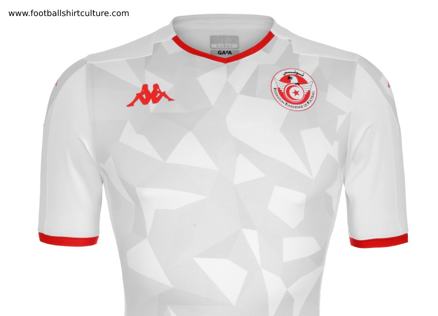 Tunisia 2019 AFCON Kappa Home Kit #kappa4tunisia #kappasport #footballshirt