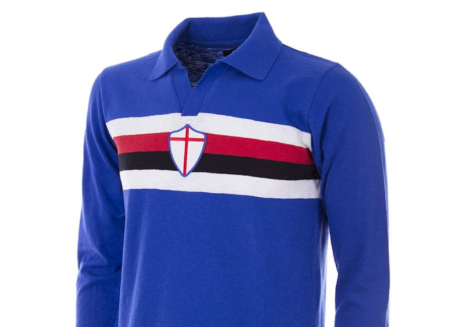 UC Sampdoria 1956-57 Copa Retro Football Shirt #UCSampdoria #Sampdoria #Samp