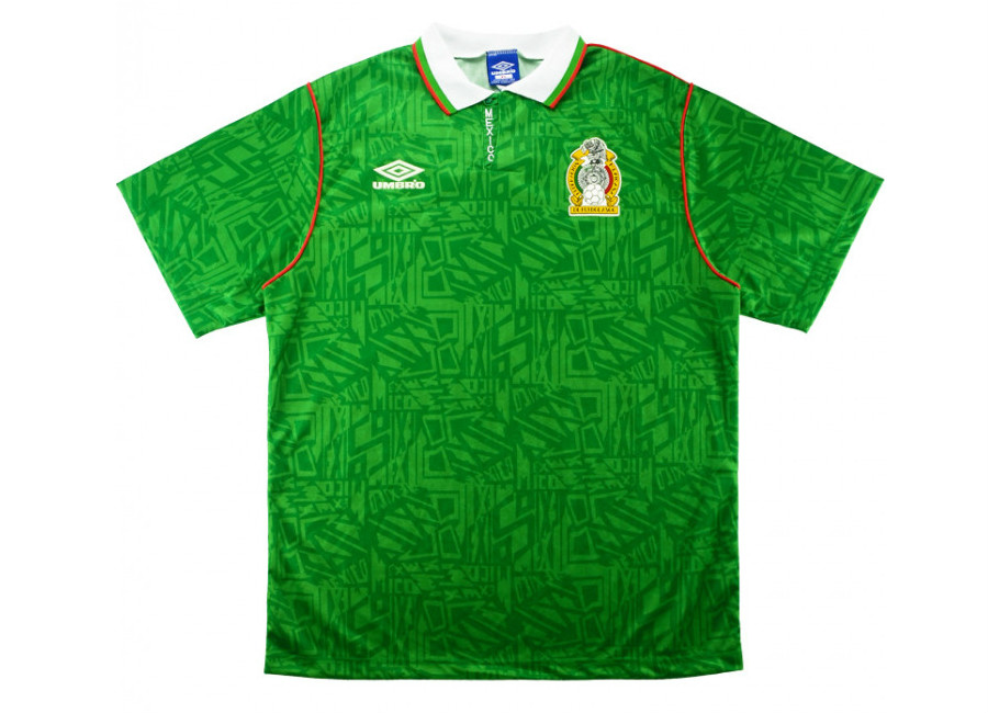 Umbro 1994 Mexico Match Issue Home Shirt #footballshirt #umbro #futbol