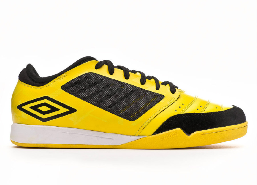Umbro Chaleira Pro IC - Blazing Yellow / Black / White #futsal #umbro #indoorsoccer