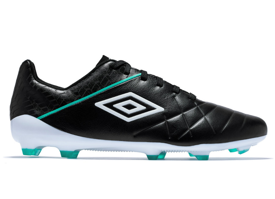 Umbro Medusae 3 Pro FG - Black / White / Marine Green #footballboots #umbro