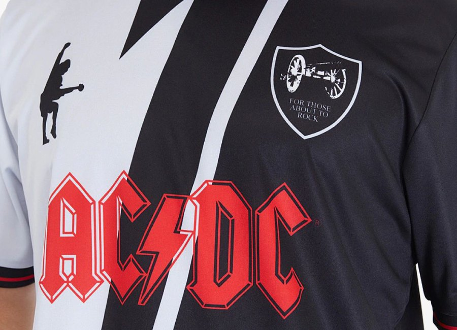 Umbro Rock FC ACDC - For Those About To Rock - Black / Charcoal #ACDC #footballshirt #umbro