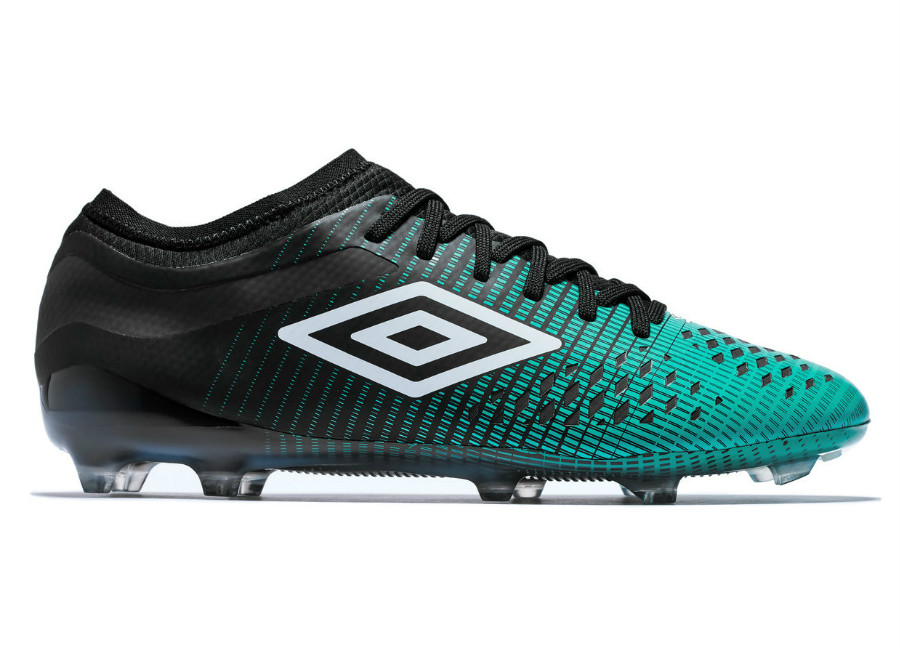 Umbro Velocita 4 Pro HG - Black / White / Marine Green #footballboots #umbro