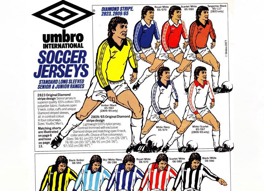 1977-78 Umbro Catalogue Pages #umbro #footballkits #footballshirts