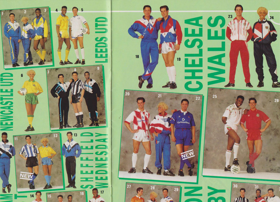 1991/92 Replica World Catalogue Pages #adidasfootball #umbro