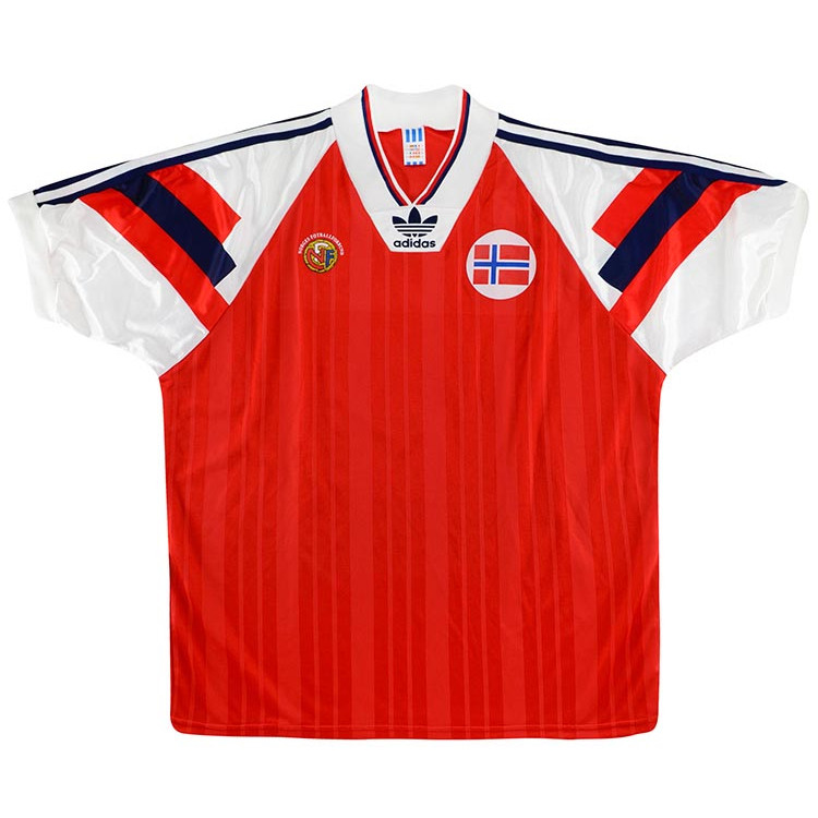 Norway 1992 Match Worn Home Shirt