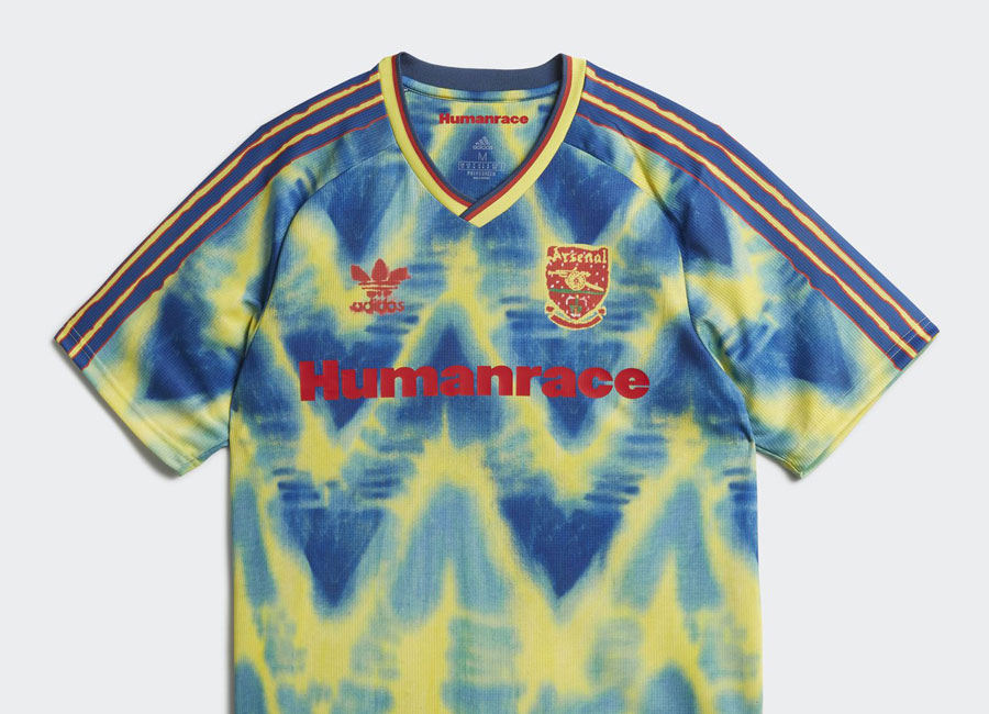 Adidas Arsenal Human Race Jersey - Eqt Yellow / Collegiate Navy #Arsenal #Arsenalfc #adidasfootball