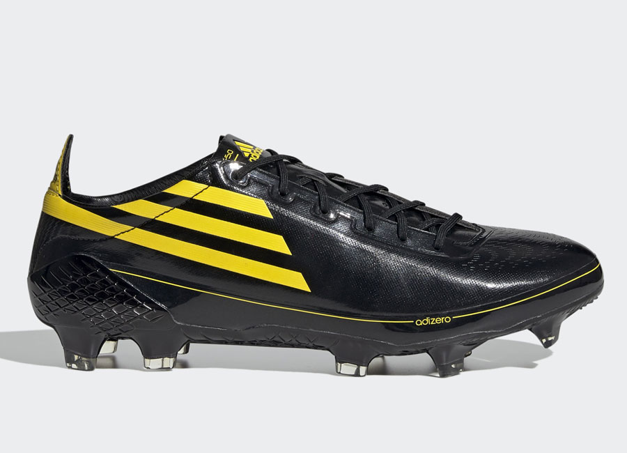 "Adidas F50 X Ghosted adizero ""Memory Lane"" - Core Black / Yellow / Core Black #adidasfootball #footballboots"