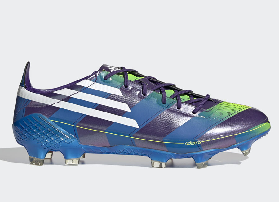 Adidas F50 Ghosted Adizero FG Memory Lane - Purple / Cloud White / Signal Green #adidasfootball #footballboots