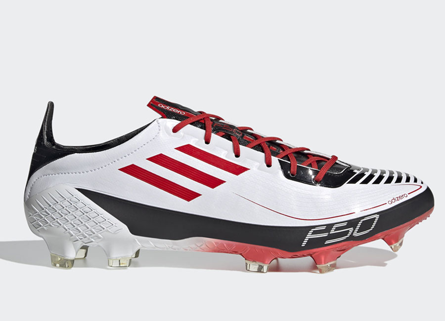 Adidas F50 Ghosted Adizero Prime FG - Cloud White / Red / Core Black #adidasfootball #footballboots
