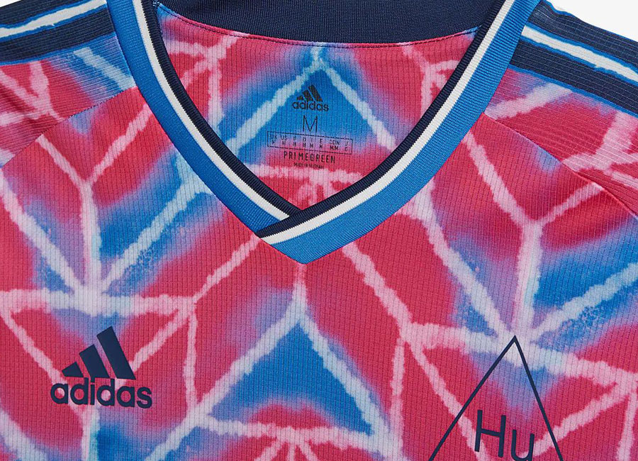 Adidas Human Race Jersey - Real Magenta / True Blue #adidasfootball #footballfashion