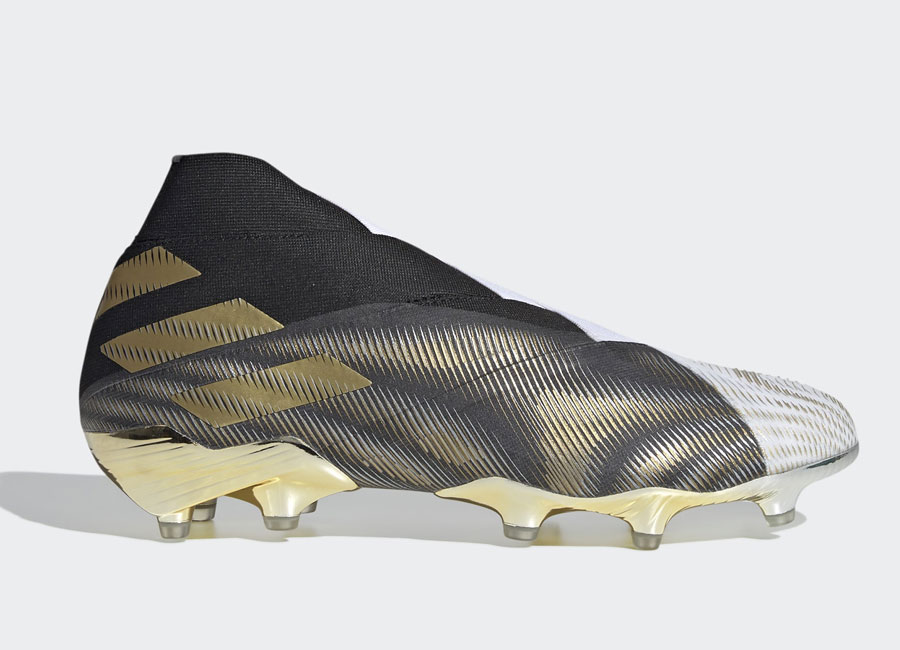 Adidas Nemeziz+ FG Atmospheric - Cloud White / Gold Metallic / Core Black #footballboots #adidasfootball