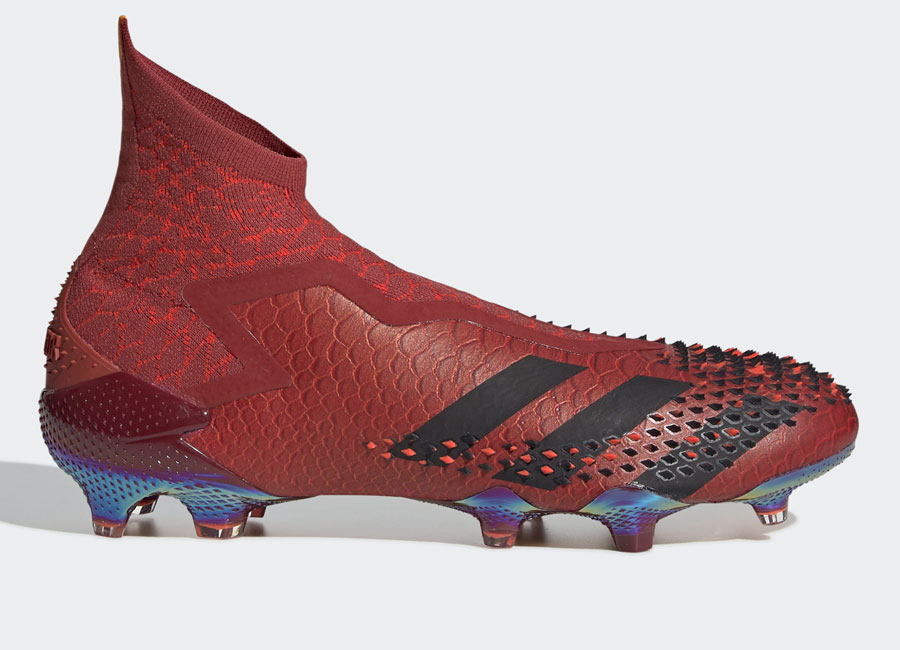 Adidas Predator Mutator 20+ ADV FG Dragon - Collegiate Burgundy / Core Black / Solar Red #footballboots #adidasfootball