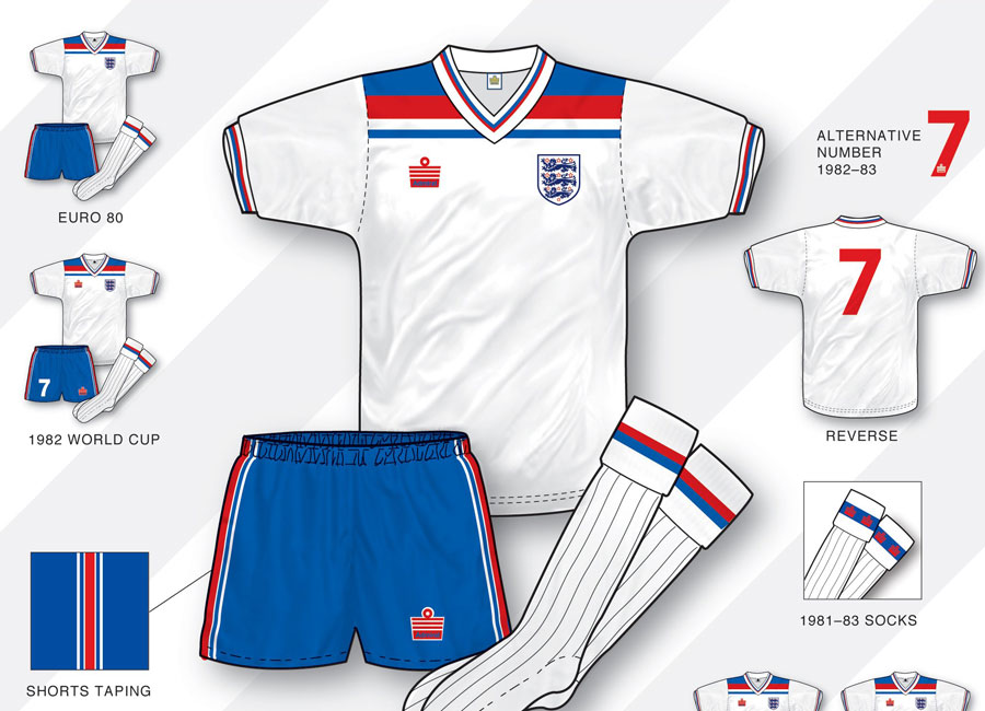 An in-depth look: England 1980-83 Home Kit #englishfootball #admiralretro #kitdesign