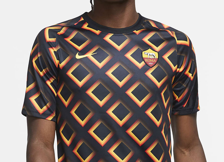 AS Roma 20/21 Football Top - Black / University Gold / University Gold #asroma #nikefootball #forzaroma
