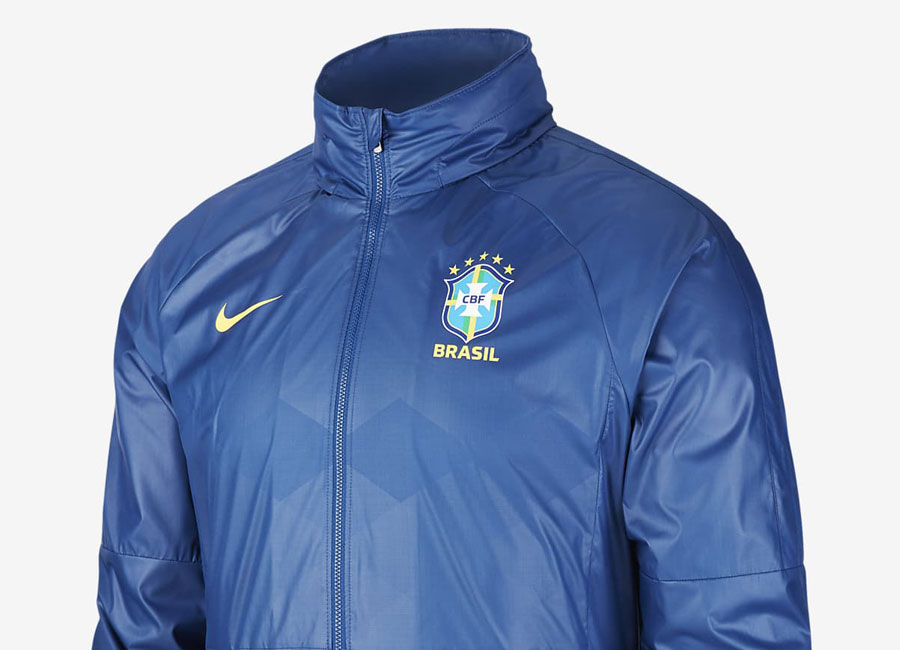 Brazil 2020-21 Nike Football Jacket - Coastal Blue / Soar / Midwest Gold #brazil #nikefootball