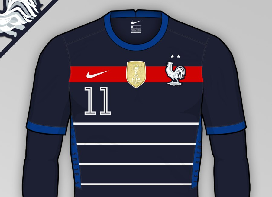 France 2020-21 Home Kit Prediction #fff #LesBleus #frenchfootball