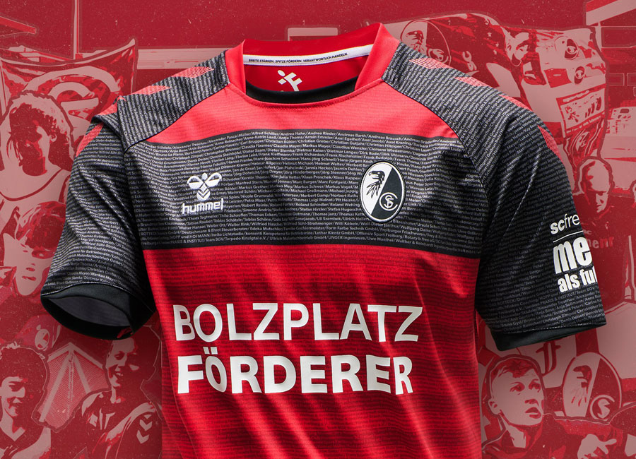 "Freiburg 2020 Hummel ""Football pitch supporters"" Shirt #hummelsport #scfreiburg #SCF #freiburg"