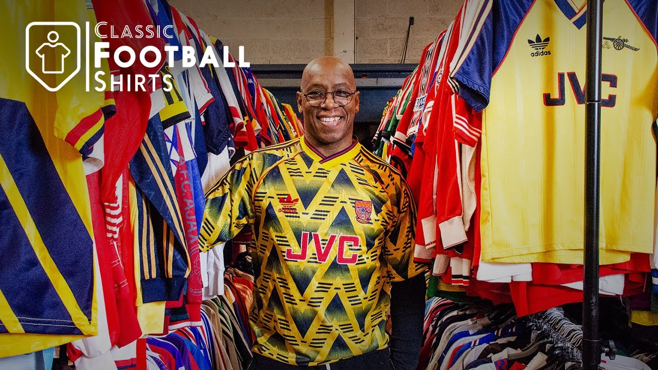 Ian Wright's Classic Football Shirts Warehouse Tour #footballshirt #matchworn