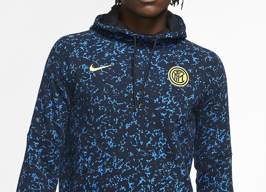 Inter Milan Football Hoodie - Black / Blue Spark / Tour Yellow #intermilan #fcinter #Internazionale