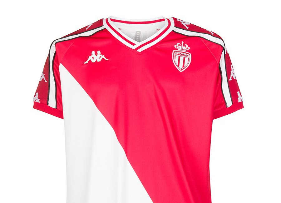 AS Monaco Kappa Retro Aniet Shirt - Red / White #ASMonaco #teamMonaco #footballshirt