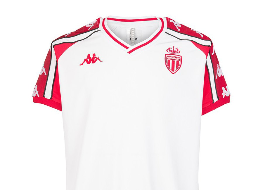 AS Monaco Kappa Retro Aniet Shirt - White / Red #ASMonaco #teamMonaco #footballshirt