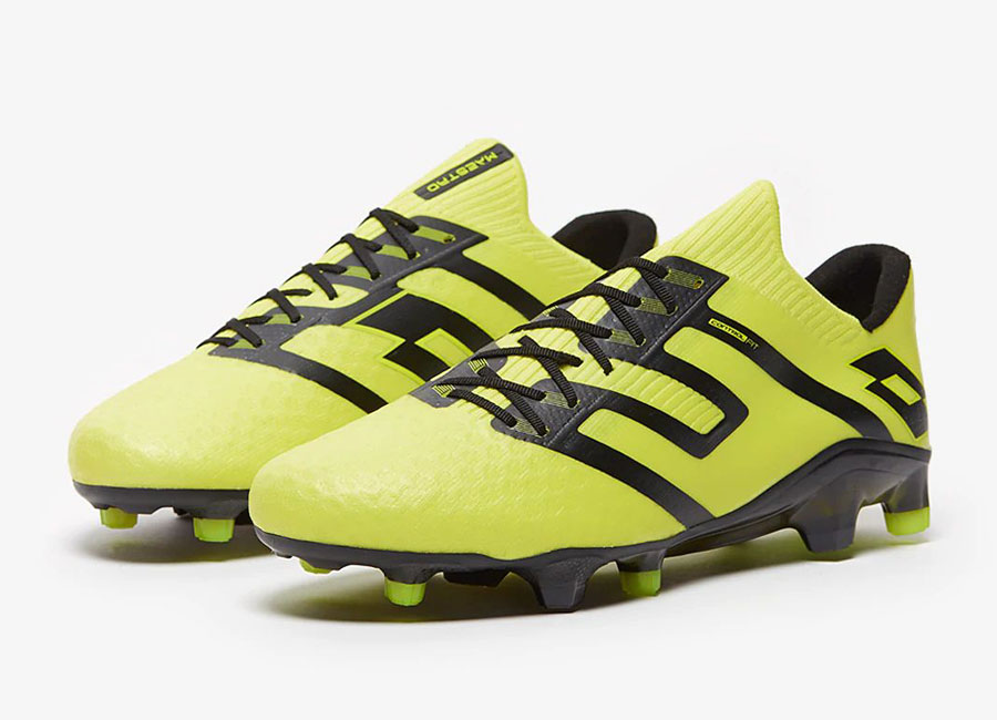Lotto Maestro 100 IV FG - Safety Yellow / Black #footballboots #lottosport