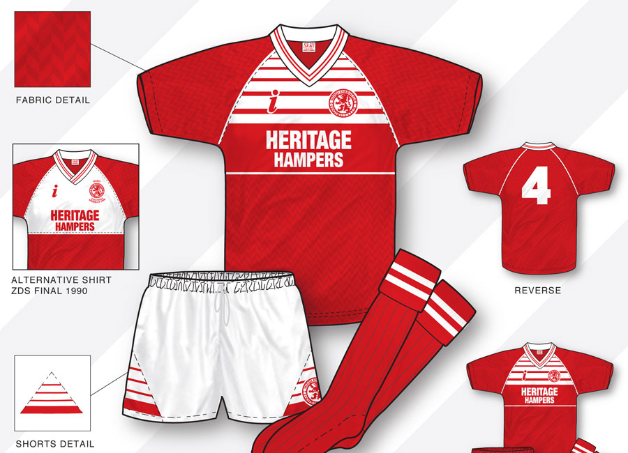 An in-depth look: Middlesbrough 1988–90 Home Kit #Middlesbrough #middlesbroughfc #boro