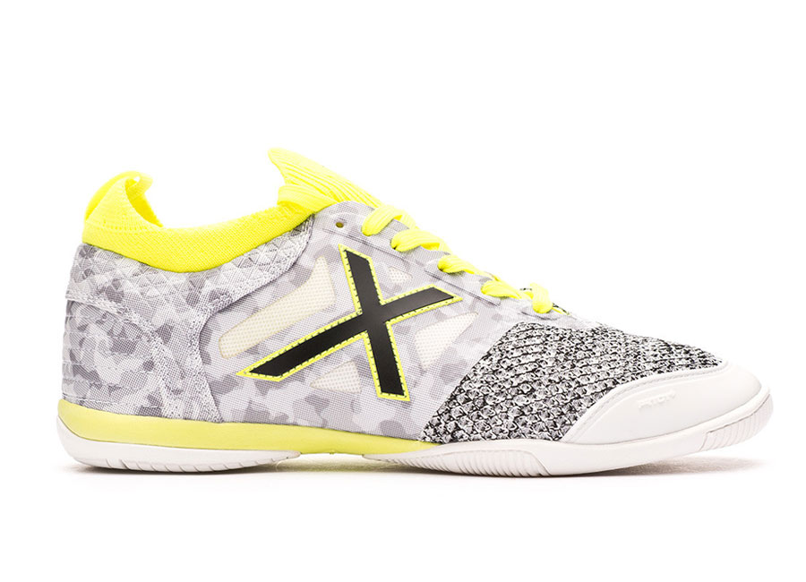 Munich Tiga IC - White / Grey / Yellow #futsal