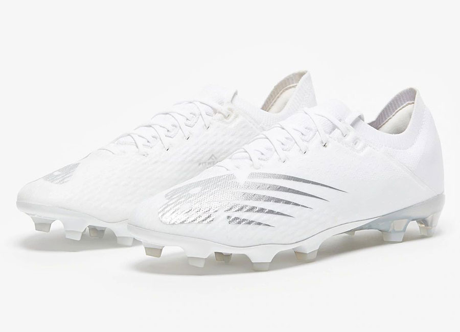 New Balance Furon V6 Limited Edition FG Twisted Silver - Triple White #footballboots #nbfootball