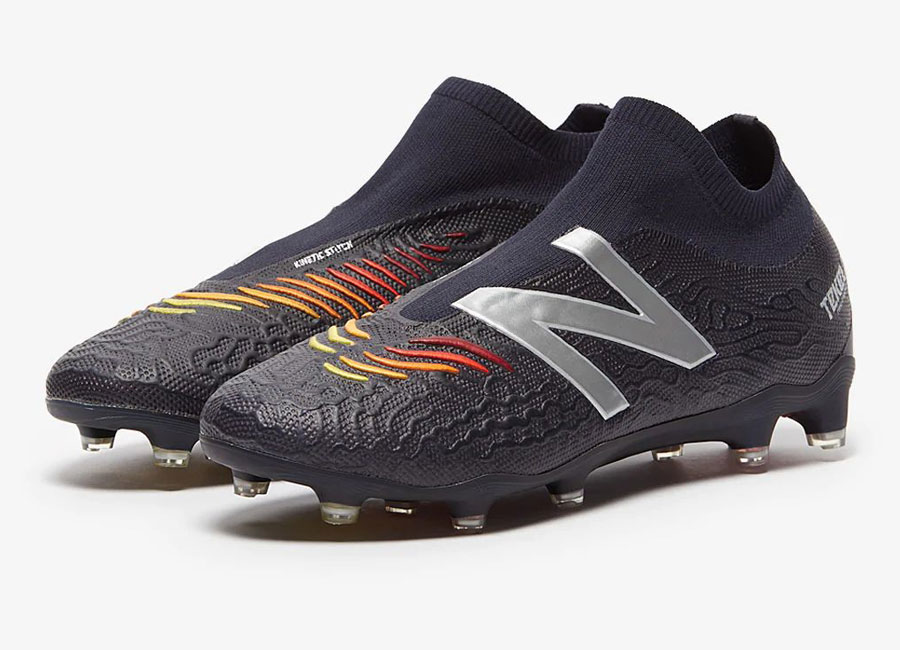 New Balance Tekela V3 Limited Edition Laceless FG - Black / Flame #footballboots #soccerboots #nbfootball