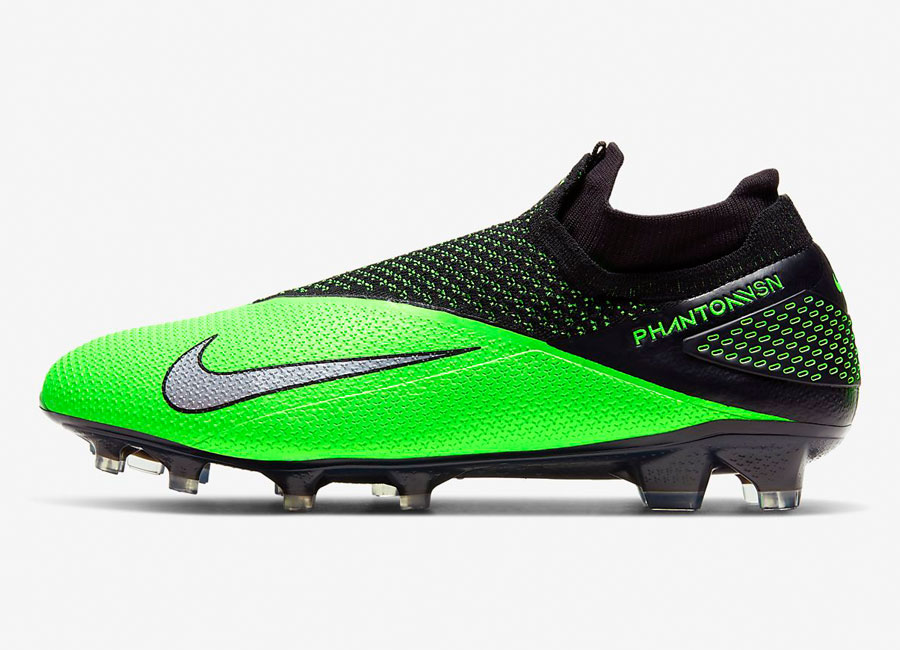Nike Phantom Vision 2 Elite DF FG LAB2 - Black / Green Strike / Laser Crimson / Metallic Platinum #nikefootball #footballboots
