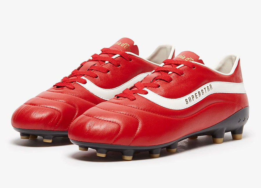 Pantofola d'Oro Superstar 2000 FG - Red / White #footballboots #PantofoladOro
