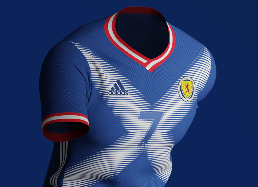 Scotland X Adidas Kit Concept by Corinth #scottishfootball #kitconcept #kitdesign