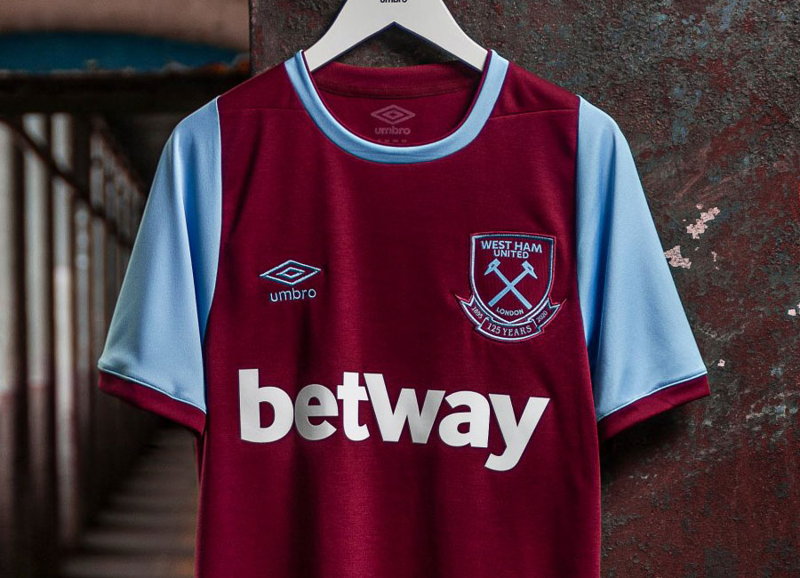 West Ham United 125th Anniversary 2020-21 Umbro Home Kit #whufc #westham #WestHamUnited #umbro