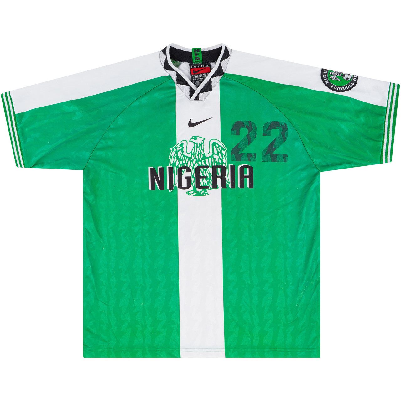 Nigeria 1996 Match Issue Olympics Home Shirt #matchworn #naija #shirtcollector