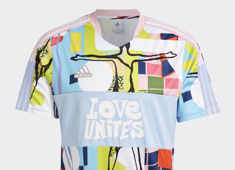 Adidas Love Unites Tiro Jersey - True Pink / Glow Blue | Lifestyle ...