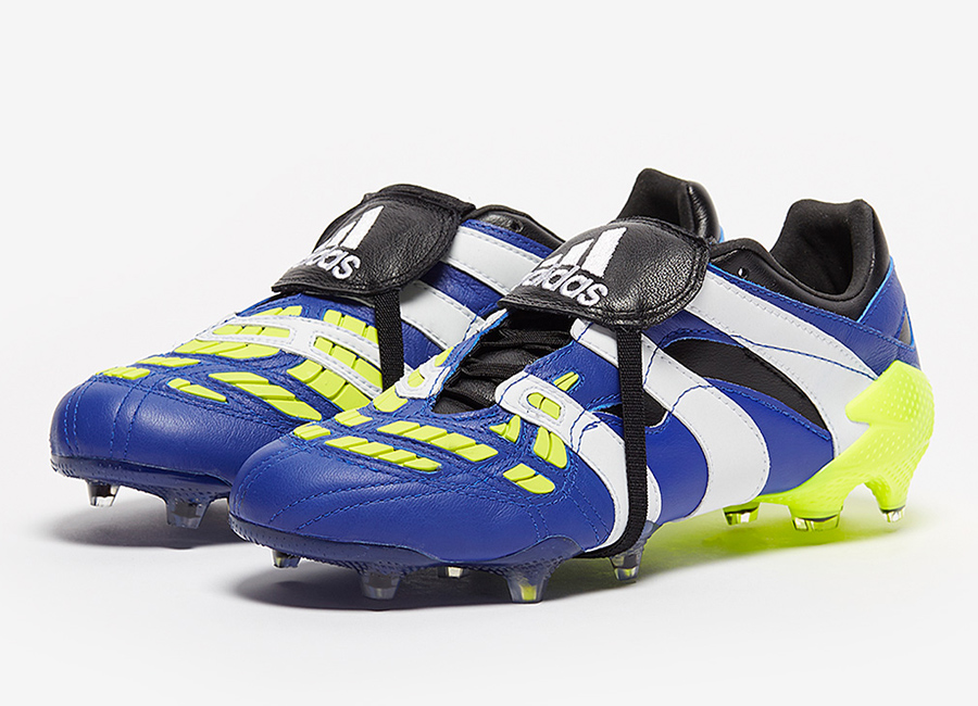 Adidas Predator Accelerator FG - Team Royal Blue / White / Solar Yellow #footballboots #adidasfootball