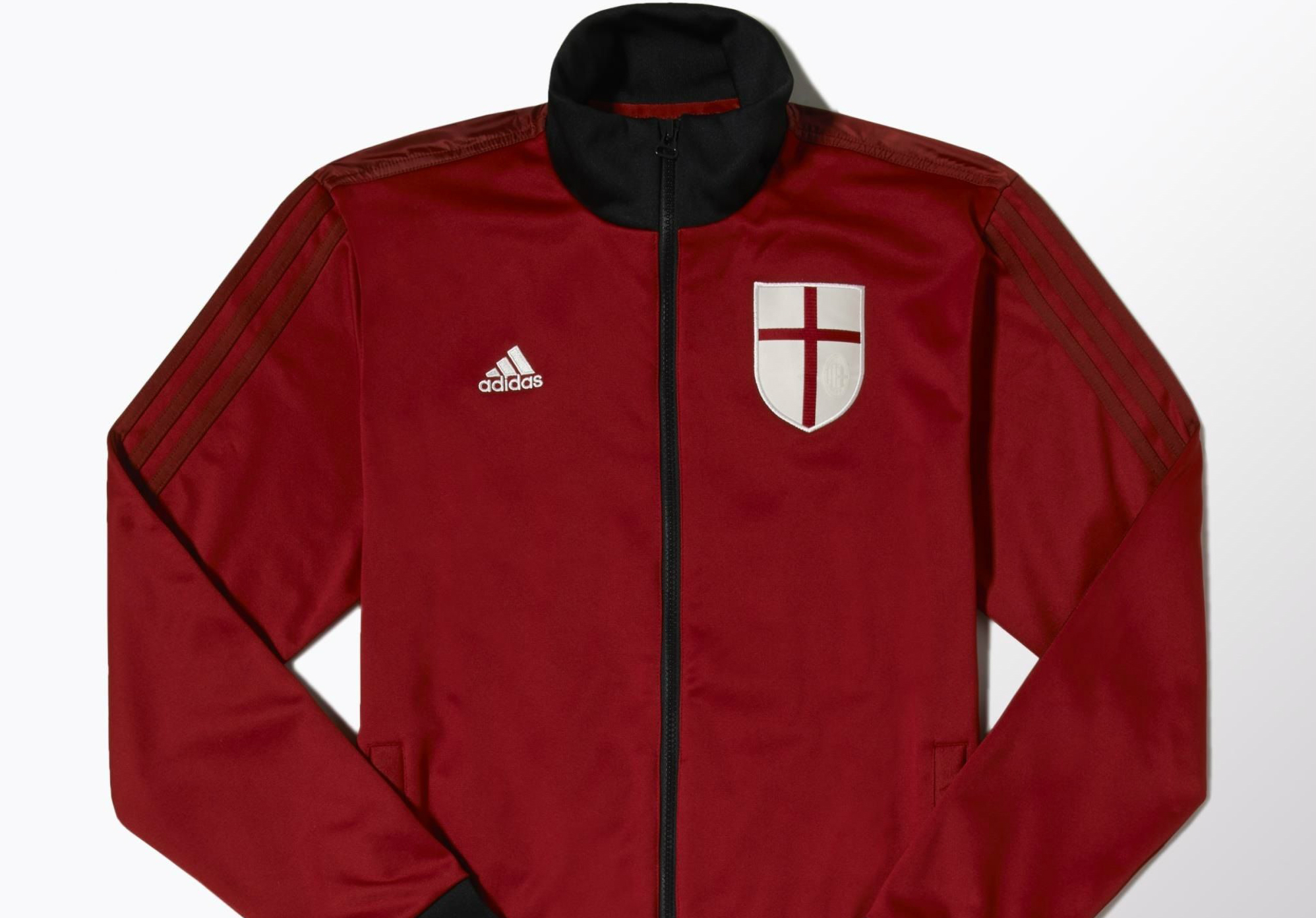 Adidas Ac Milan Core Track Jacket Victory Red Black