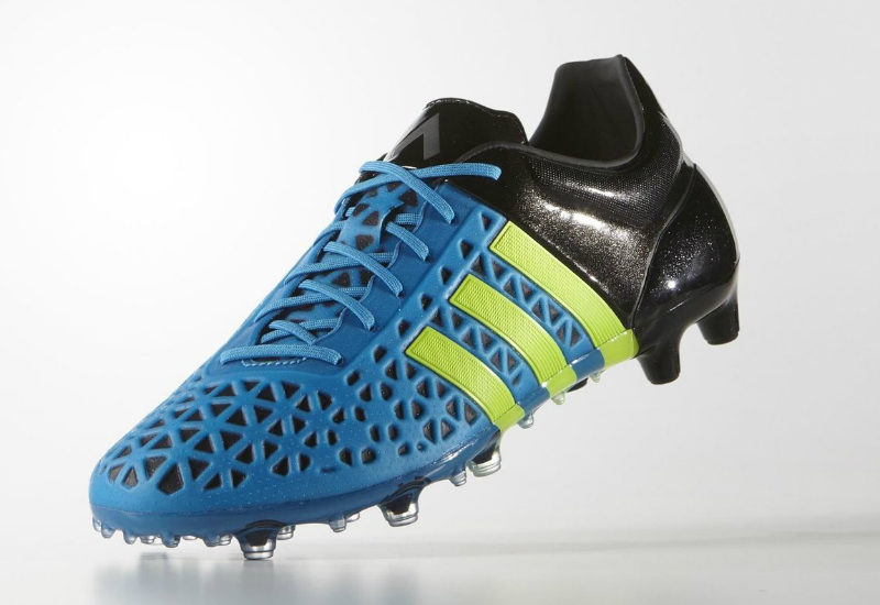 Adidas Ace15 1 Firm Artificial Ground Boots Solar Blue Solar Yellow Core Black
