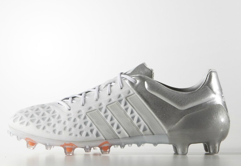 Adidas firma / artificial Ground botas blanco / blanco / plata
