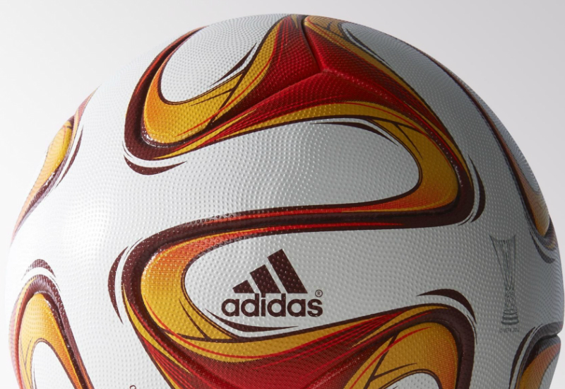 Adidas Europa League Official Match Ball White Burgundy Solar Red El