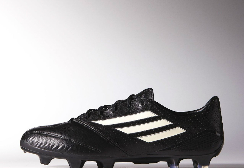 Adidas F50 Adizero K Leather Boots Pure Leather Pack Core Black Chalk White Gold Met