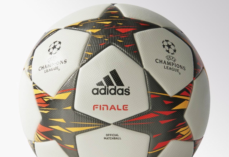 Adidas Finale 2014 15 Uefa Champions League Match Ball White Solar Red Solar Gold