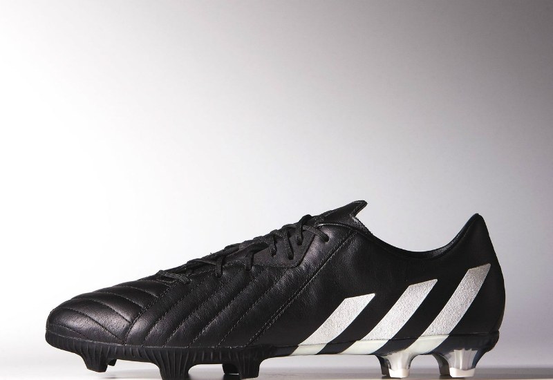 Adidas Predator Instinct K Leather Boots Pure Leather Pack Core Black Chalk White Gold Met