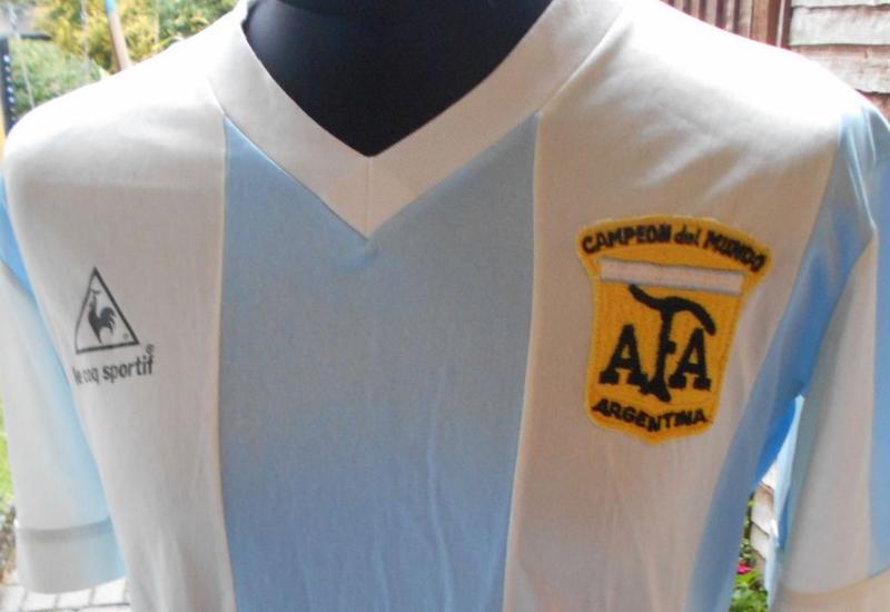 cd76f594ce Argentina 1978-80 Le Coq Sportif Home Football Shirt | Vintage ...