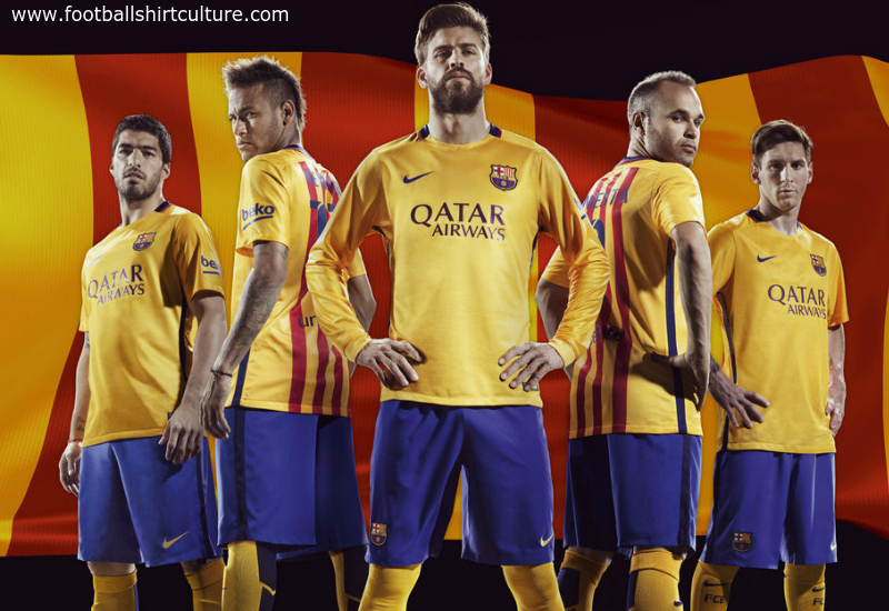 Barcelona 15 16 Nike Away Football Shirt  ec74ee9fd4e60