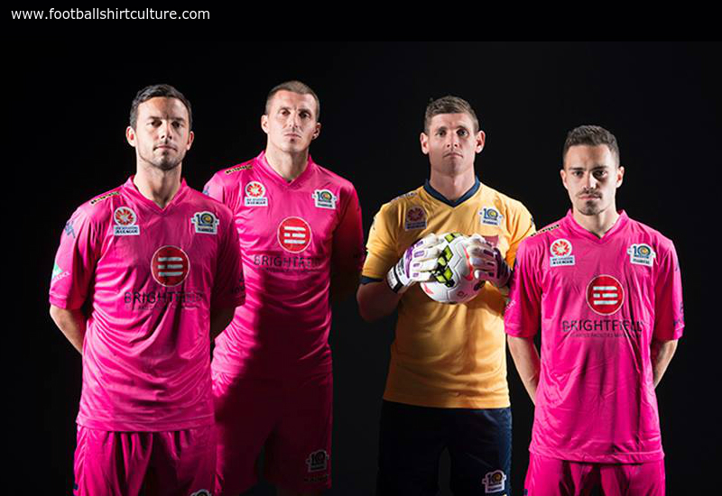 Central Coast Mariners 2014 15 Kappa Pink Football Shirt